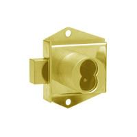 Olympus 725MD-DW-IH-US3 Cabinet Locks in Bright Brass Finish