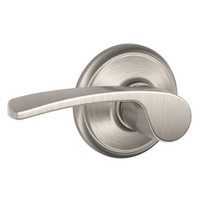 F170-MER-619 Schlage F Series - Merano Lever style with Single Dummy Trim Function in Satin Nickel