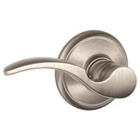 F170-STA-LH-619 Schlage F Series - ST. Annes Lever Style with Single Dummy Trim Function in Satin Nickel