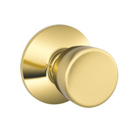 F40-BEL-605 Schlage F Series - Knob Bell Style with Privacy Lock Function in Bright Brass