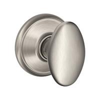 F10-SIE-619 Schlage F Series - Knob Siena Style with Passage Lock Function in Satin Nickel
