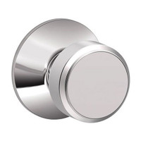 F170-BWE-625 Schlage F Series - Knob Bowery Style with Single Dummy Trim Function in Bright Chrome