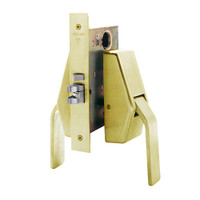 HL6-9485-US4 Glynn Johnson HL6 Series Hotel Lock Thumbturn Function Push and Pull latch with Mortise Lock in Satin Brass