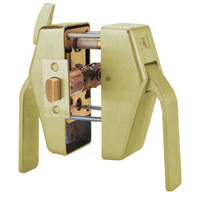 PL7-L-7-606 Glynn Johnson PL7 Series Privacy Function Push Side Thumbturn with Lead Lining in Satin Brass Finish