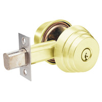 E63-03 Arrow Lock E Series Deadbolt in Bright Brass Finish