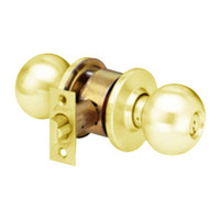 MK12-TA-03 Arrow Lock MK Series Cylindrical Locksets Single Cylinder for Storeroom with TA Knob in Bright Brass Finish