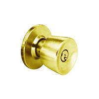 MK32-DD-05A Arrow Lock MK Series Public Entrance Knob with DD Design in Antique Brass Finish