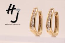 14 Karat Yellow Gold .75 ctw Diamond Huggie Earrings