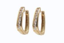 14 Karat Yellow Gold .33ctw Diamond Huggie Earrings