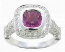 14 Karat White Gold Pink Tourmaline and .75ctw Diamond Ring