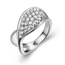 Elle Sterling Silver CZ  RIng Size 7