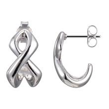 Elle Sterling Silver Infinity Post Earrings