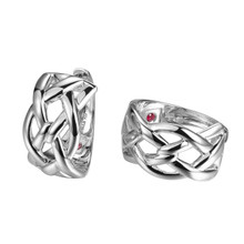 Elle Sterling Silver Small Braided Hoops