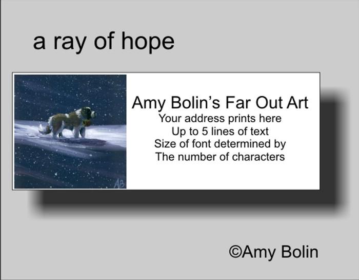 ADDRESS LABELS · A RAY OF HOPE · SAINT BERNARD · AMY BOLIN