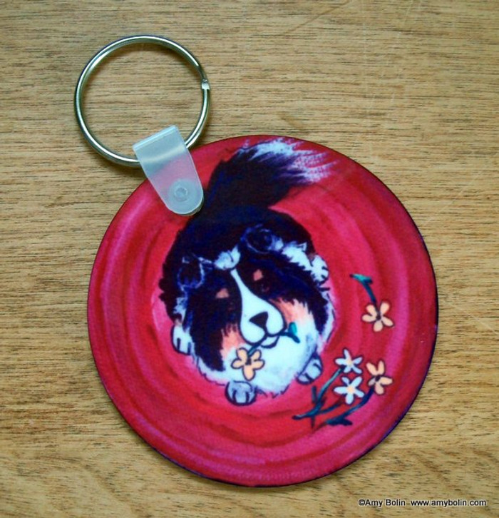 KEY CHAIN · BE MINE · TRI COLOR SHELTIE  · AMY BOLIN