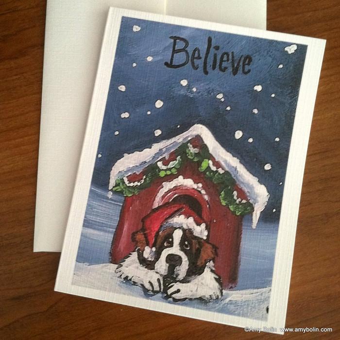 NOTE CARDS · BELIEVE · SAINT BERNARD · AMY BOLIN