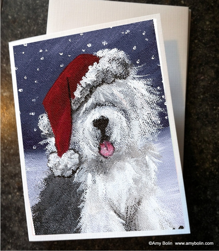 NOTE CARDS · SHAGGY CLAWS · OLD ENGLISH SHEEPDOG · AMY BOLIN