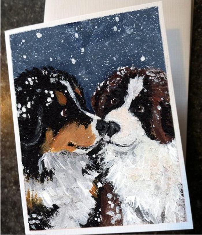 NOTE CARDS · PUPPY KISSES · BERNESE MOUNTAIN DOG & SAINT BERNARD · AMY BOLIN