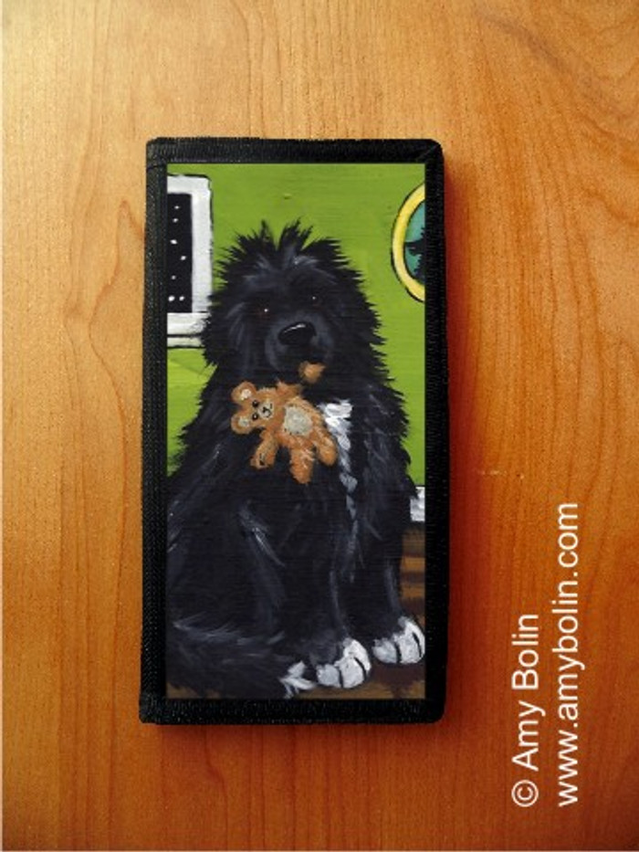 CHECKBOOK COVER · BEDTIME BUDDIES · IRISH SPOTTED NEWFOUNDLAND · AMY BOLIN