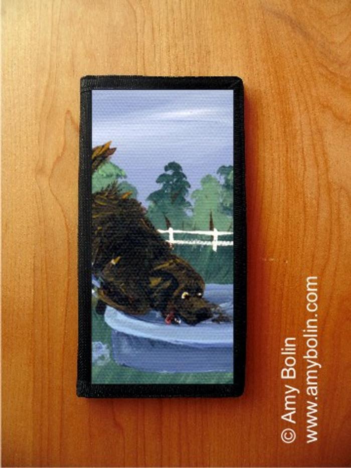 CHECKBOOK COVER · DIGGIN' IT! · BROWN NEWFOUNDLAND · AMY BOLIN