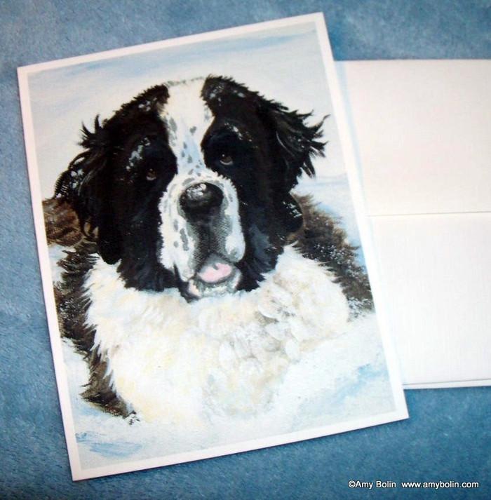 NOTE CARDS · CHARLIE'S SNOW DAY · SAINT BERNARD · AMY BOLIN