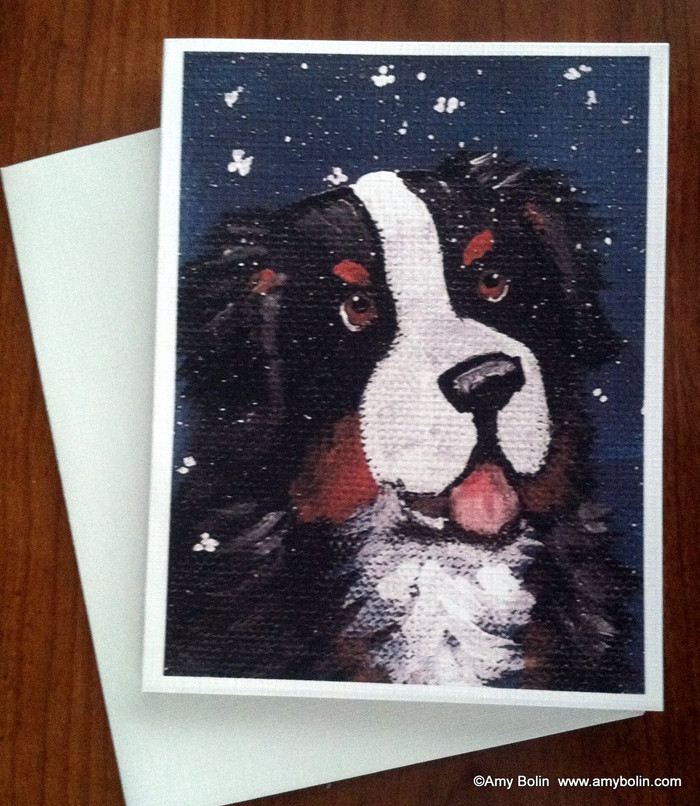 NOTE CARDS · COUNTING SNOWFLAKES · BERNESE MOUNTAIN DOG · AMY BOLIN