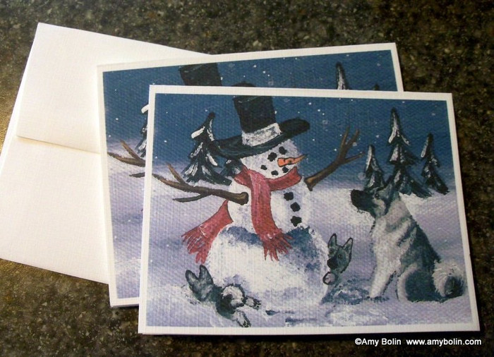 NOTE CARDS · HIDE AND SEEK · NORWEGIAN ELKHOUND · AMY BOLIN