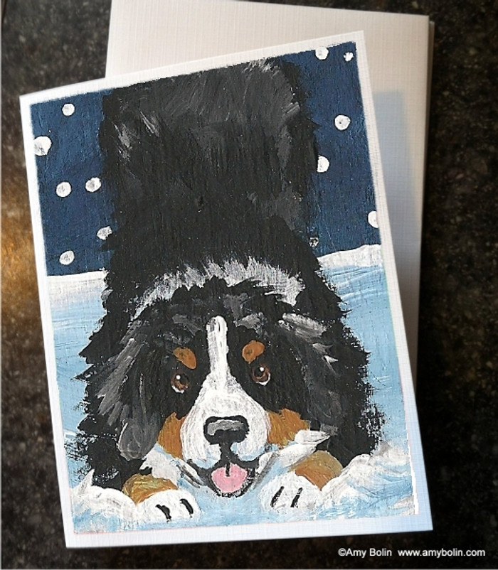 NOTE CARDS · LET'S PLAY · BERNESE MOUNTAIN DOG · AMY BOLIN