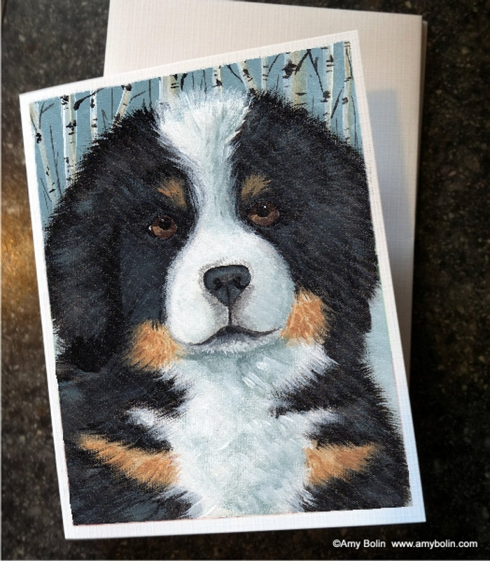 NOTE CARDS · PUPPY EYES · BERNESE MOUNTAIN DOG · AMY BOLIN