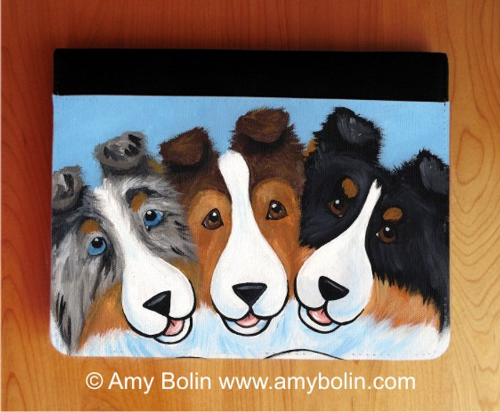 NOTEBOOKS (SEVERAL SIZES AVAILABLE) · BFF's · BLUE MERLE, SABLE, and TRI COLOR SHELTIES · AMY BOLIN