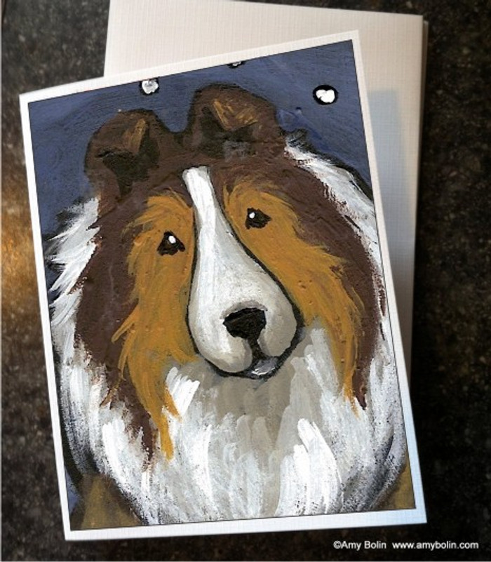 NOTE CARDS · IN THE SNOW AGAIN · SABLE SHELTIE · AMY BOLIN