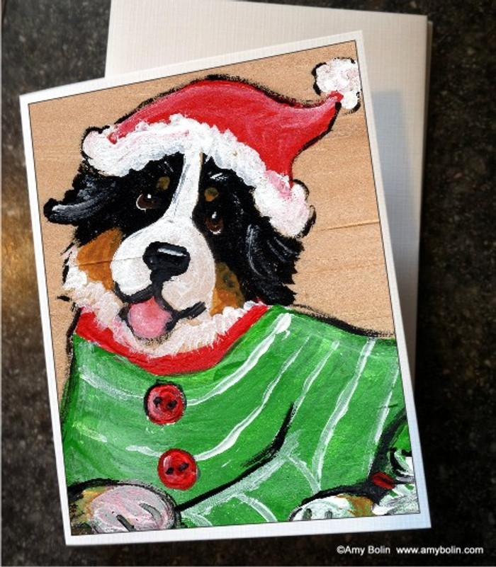 NOTE CARDS · CHRISTMAS CUDDLIES · BERNESE MOUNTAIN DOG · AMY BOLIN