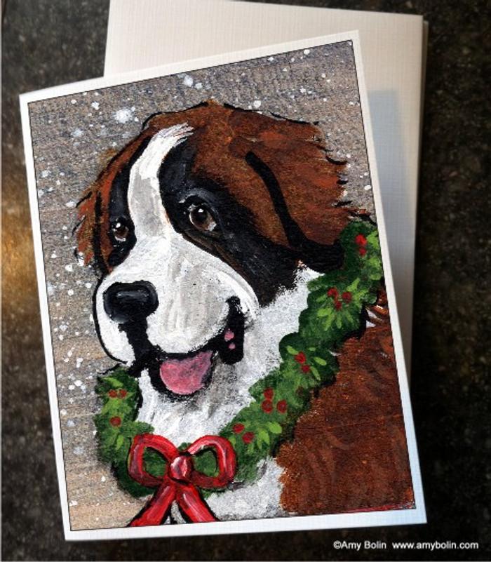 NOTE CARDS · CHRISTMAS TRADITIONS · SAINT BERNARD · AMY BOLIN