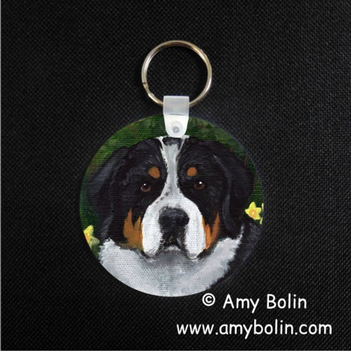 KEY CHAIN · PIPER · GREATER SWISS MOUNTAIN DOG · AMY BOLIN