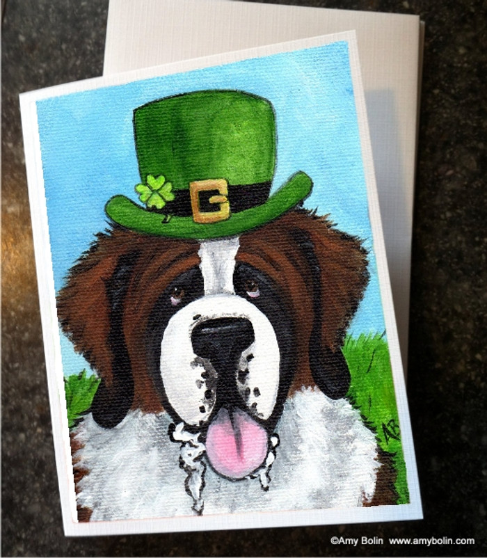 NOTE CARDS · A BIG, WET IRISH KISS · SAINT BERNARD · AMY BOLIN