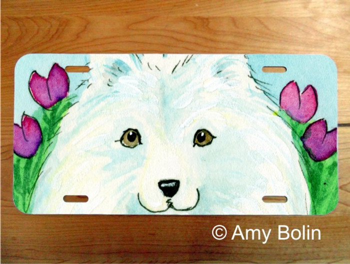 LICENSE PLATE · EASTER SAMMY · SAMOYED · AMY BOLIN