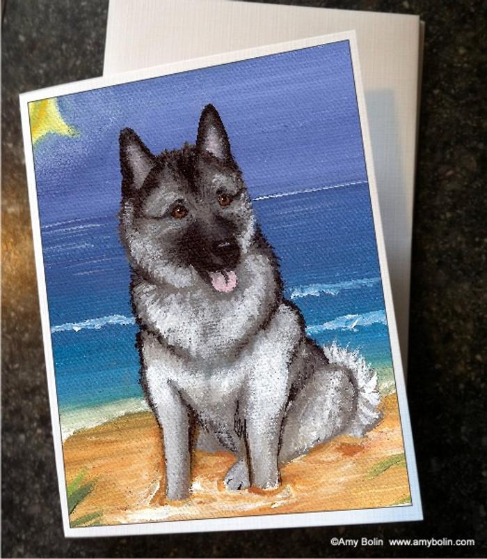 NOTE CARDS · BEACH BUM · NORWEGIAN ELKHOUND · AMY BOLIN