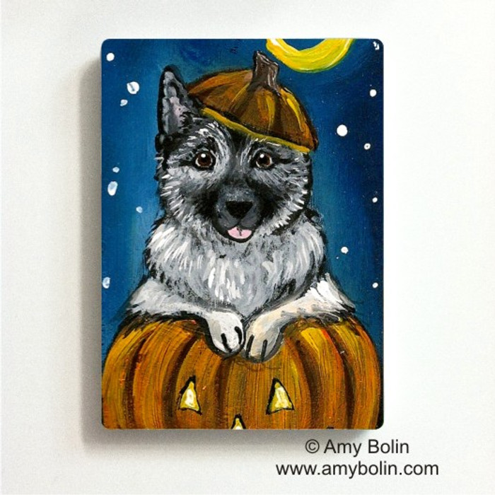 MAGNET · HAPPY HOWLOWEEN · NORWEGIAN ELKHOUNDS · AMY BOLIN