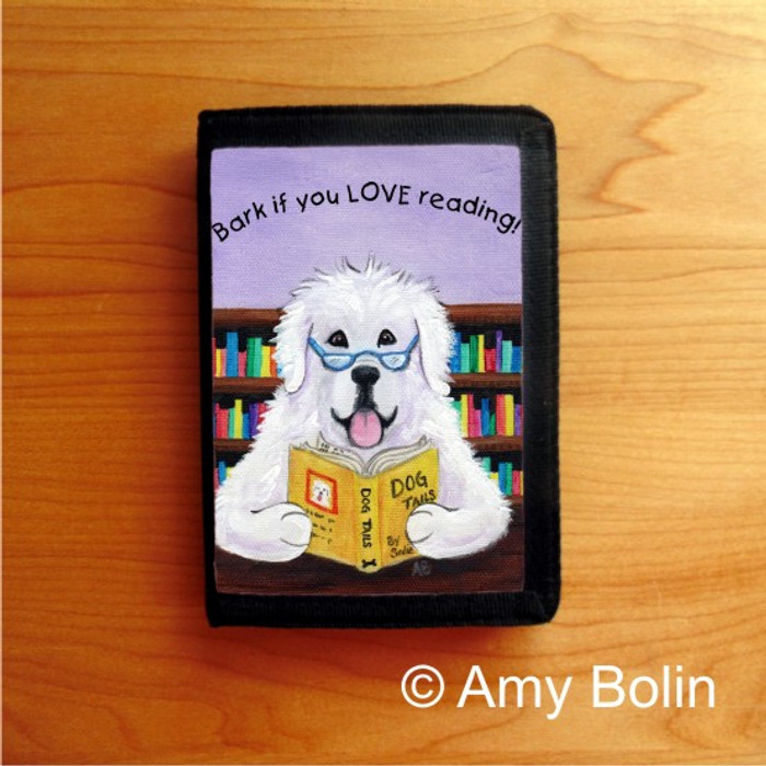 TRIFOLD WALLET · DOG TAILS VOL 2 · GREAT PYRENEES · AMY BOLIN