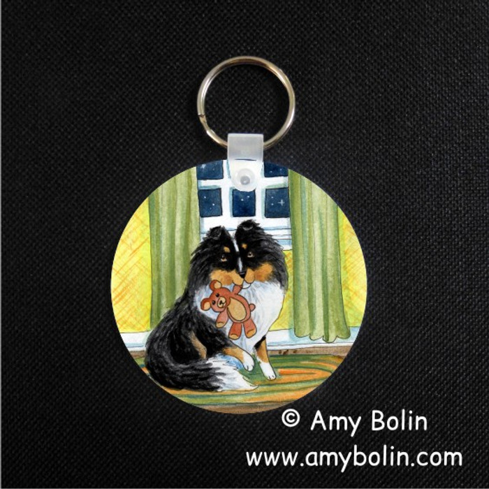 KEY CHAIN · BEDTIME BUDDIES · TRI COLOR SHELTIE · AMY BOLIN