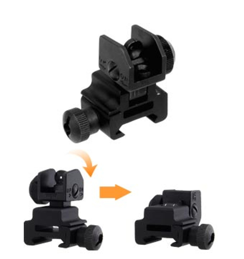 Rear Flip Up Sight Picatinny Mount