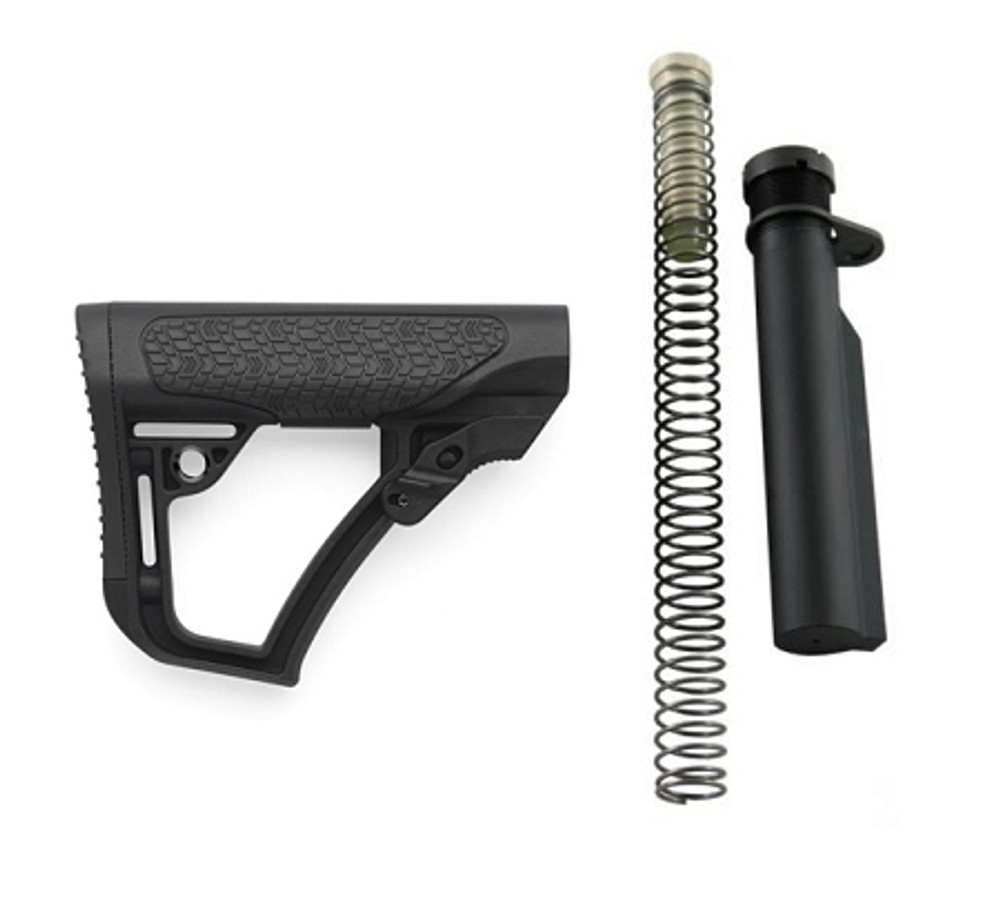 Daniel Defense Stock Collapsible Mil-Spec Stock Buffer set combo AR-15, LR-308 Carbine Synthetic Black