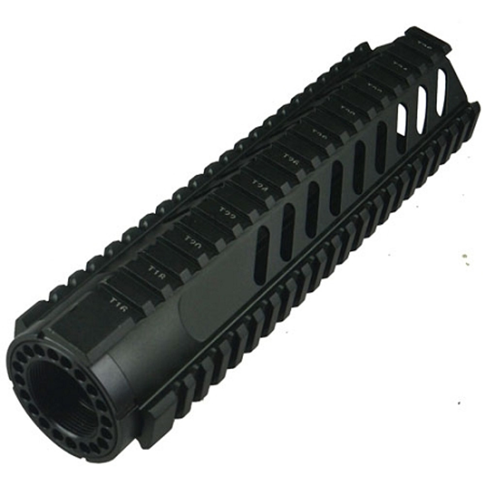 "AR-15 9"" Mid-Length Free Float Rail System With Diagonal Slots"