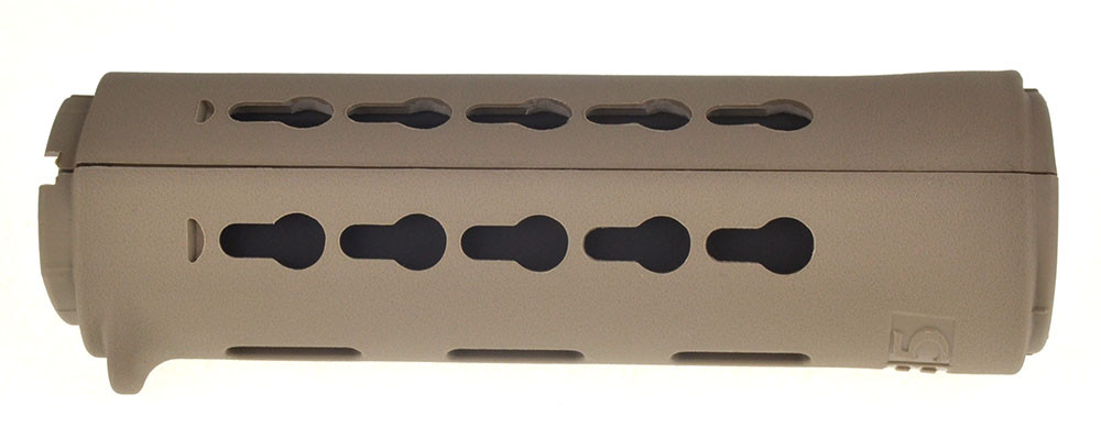 B5 Systems Ar-15 Drop-In Keymod Carbine Length Handguard FDE