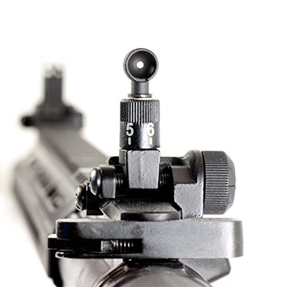 Low Profile Flip-up Adjustable Front and Rear Iron Sight for Picatinny Rail