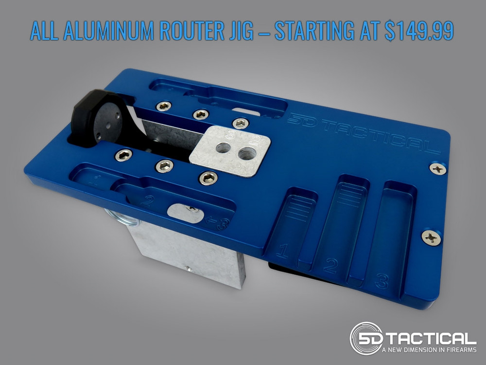 "5D Tactical Heavy-Duty Steel 80% AR-15 Router Jig W/ 5/16"" end mill"