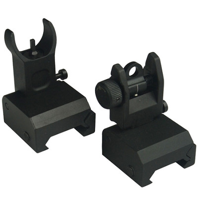Omega MFG. Premium Flip Up Sight Set !! Fits All Picatinny Rails and Flattop's