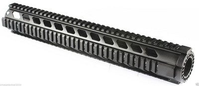 "Omega mfg  Free Float 15""  Free Float Quad Rail Diamond Extreme Super 15"