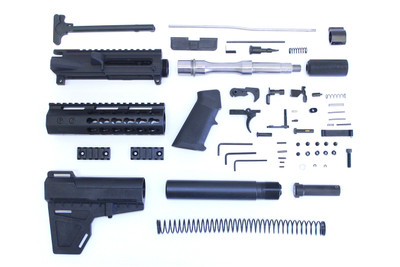 DAVIDSON DEFENSE .223 5.56 Ar-15 PREMIUM BILLET COMPLETE PISTOL EVERYTHING BUT THE LOWER & BCG