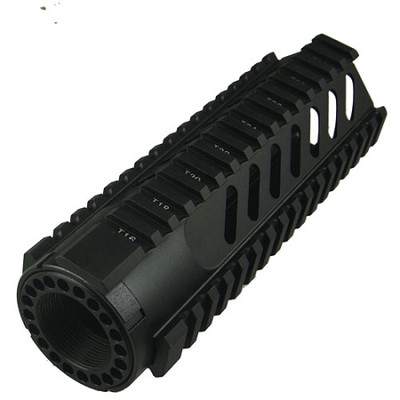"AR-15 7"" Carbine Length Free Float Rail System With Diagonal Slots"